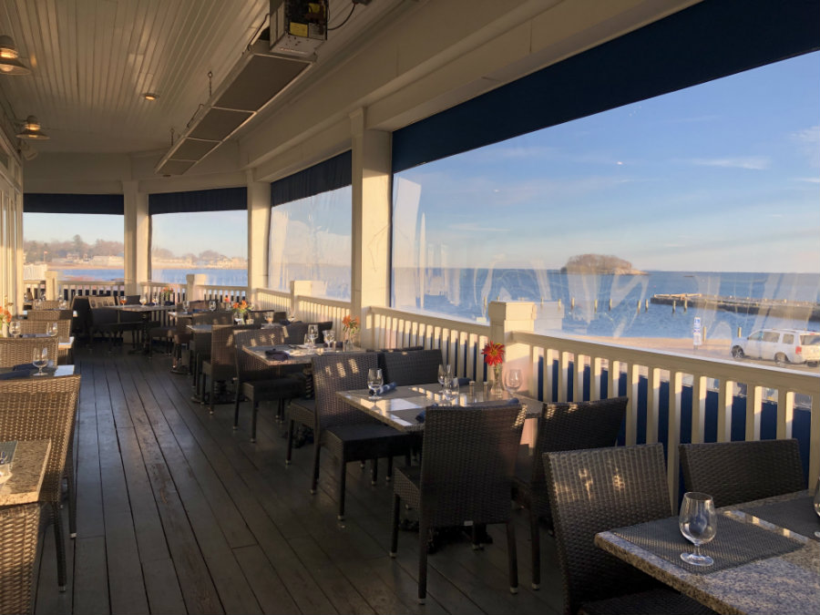 Dining at the Wharf restaurant at the Madison Beach Hotel
