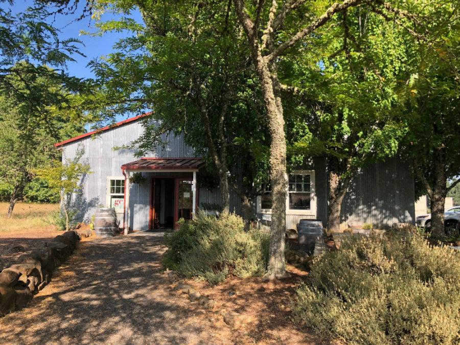 Wine tasting at Grochau wine cellars in Willamette Valley Oregon