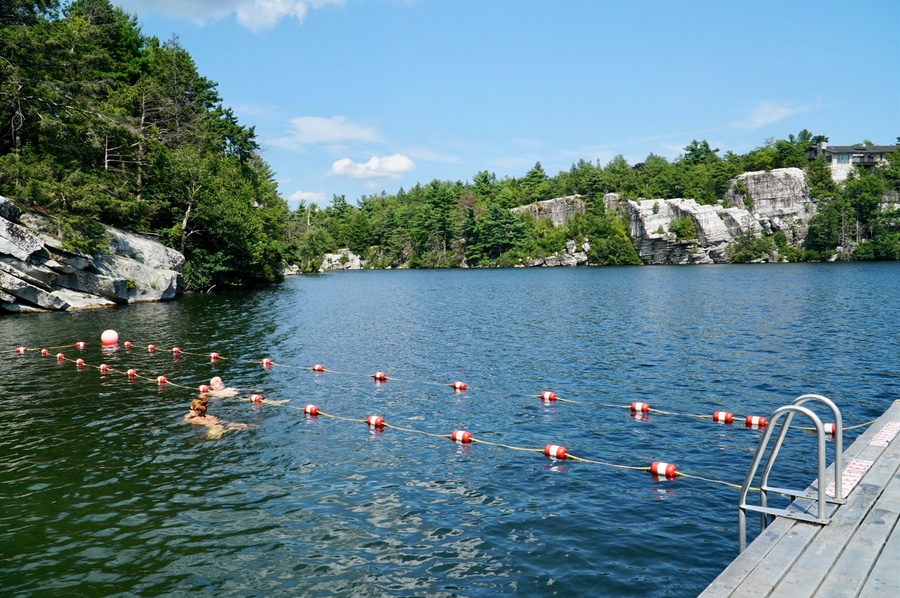 Swimming in Lake Minnewaska in Minnewaska State Park Preserve