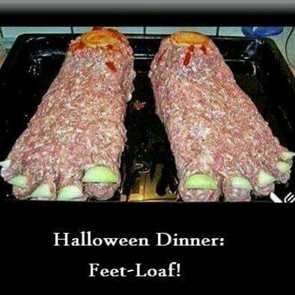 Gluten Free  Halloween Feet-Loaf