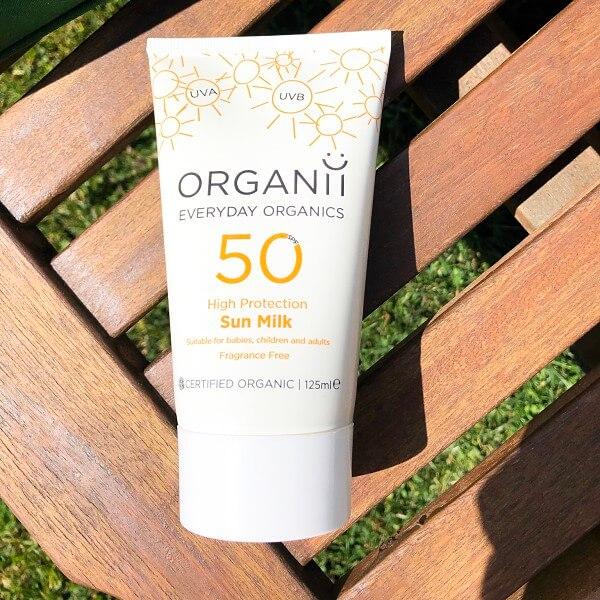 organii mineral sunscreen sun milk