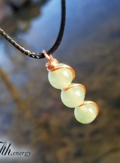 Green Aventurine Drop Pendant Necklace Fifth Energy Jewelry