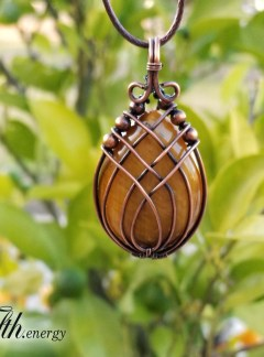 Tigers Eye Pendant Necklace Fifth Energy Jewelry
