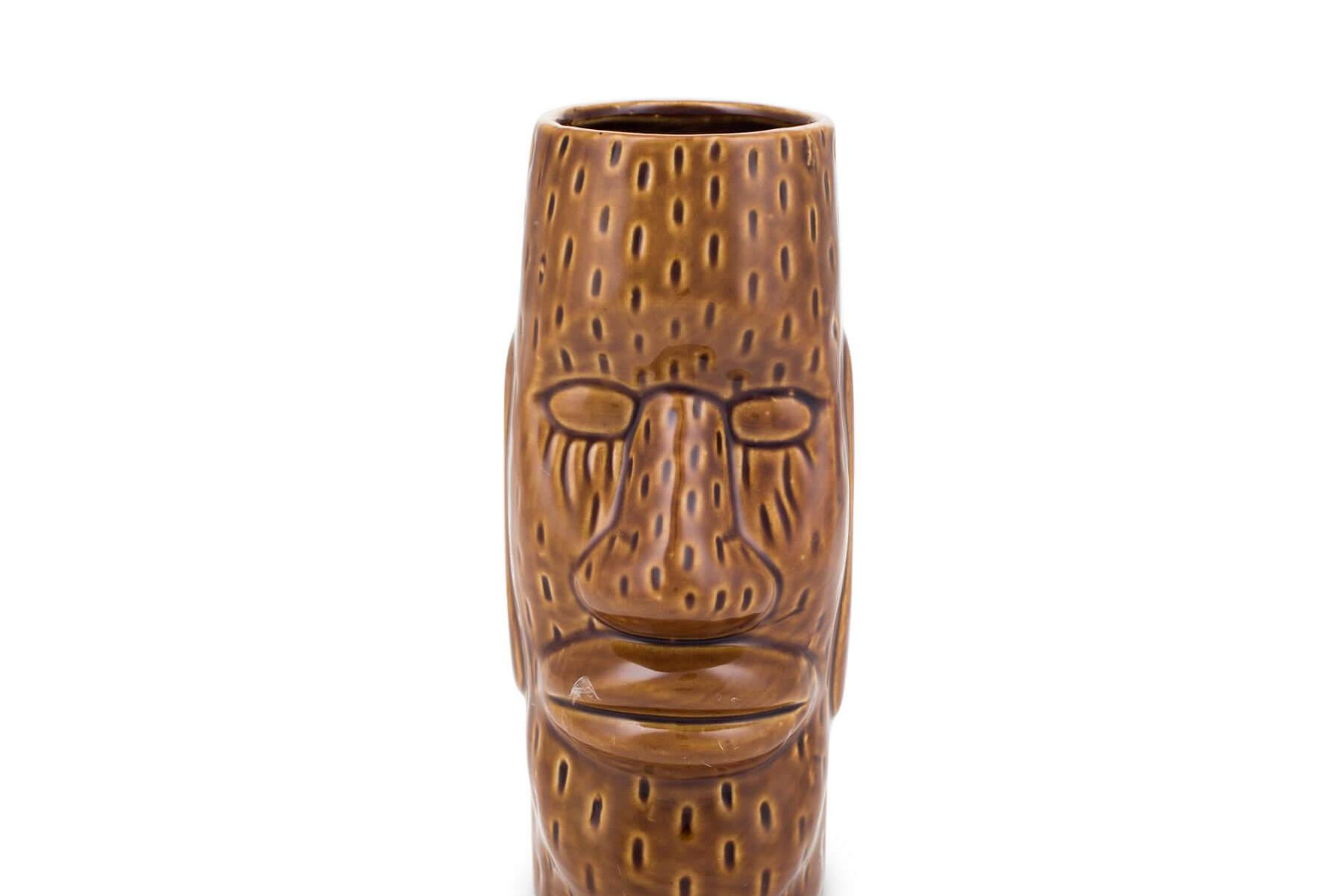 Ku Easter Island Head Ceramic Tiki Mug (450 ml) Fifth & Vermouth Front View