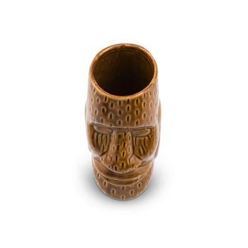 Ku Easter Island Head Ceramic Tiki Cocktail Mug (450 ml) Fifth & Vermouth Wide Mouth