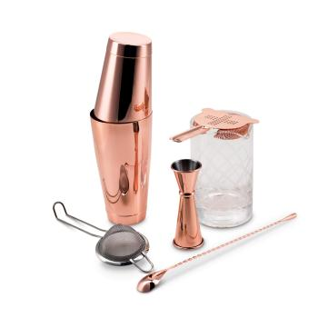 Copper Plated Shaken & Stirred Barware Set Fifth & Vermouth