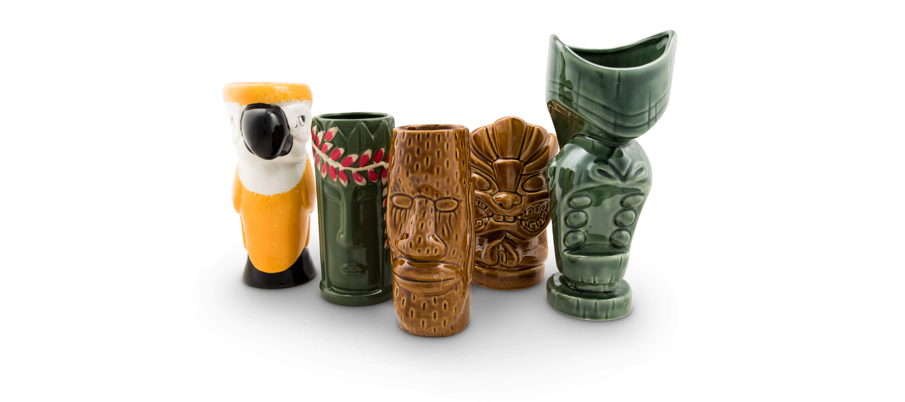 The best unique vintage ceramic tiki cocktail mugs designs Canada USA Fifth & Vermouth