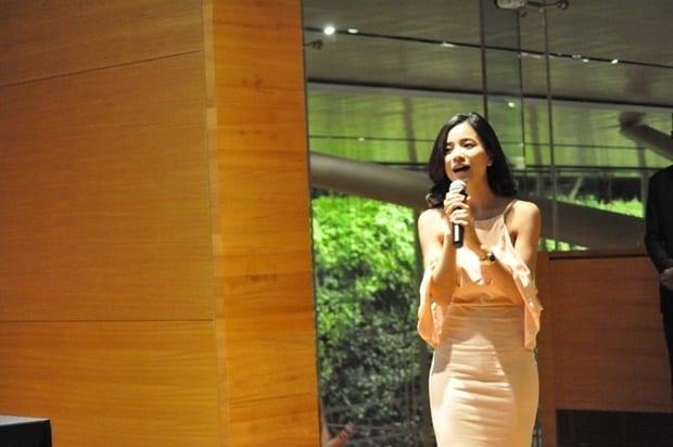 Ms Allison Lin giving her speech.