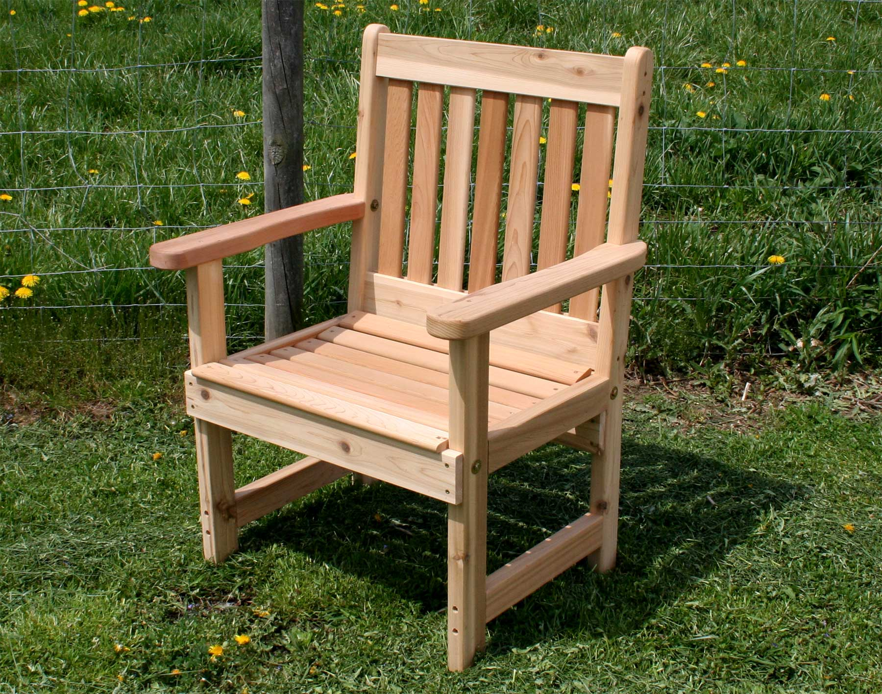 Outdoor Wooden Chairs Red Cedar English Garden Patio Chair