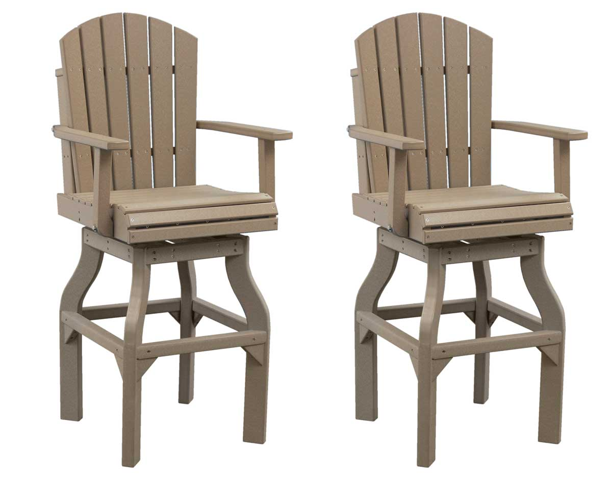 Bar Stool Chair Poly Lumber Adirondack Swivel Bar Chair Set Of 2