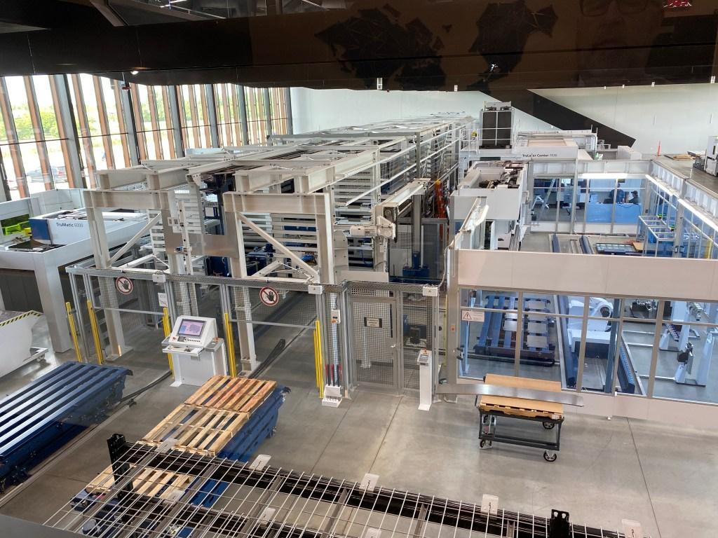 Overhead view of Trumpf Smart Factory