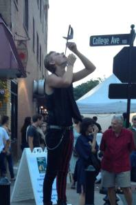Blacksburg Steppin' Out Festival (sword swallowing!)