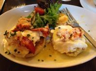 Lobster Benedict at The Copley Plaza