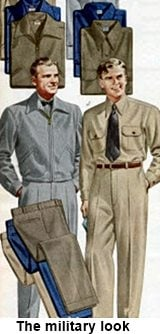 Image result for mens 1950s military style