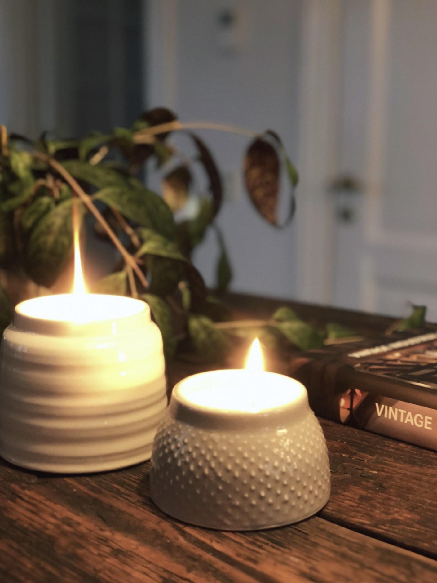 hjemmelavede duftlys
