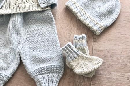 strikkede babysokker