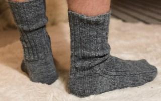 strikkede sokker