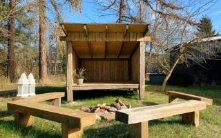 hjemmebygget shelter