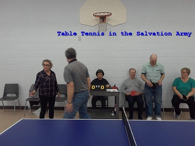 photo of table tennis in the Salvation Army