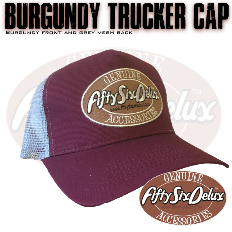 Burgundy Trucker Cap