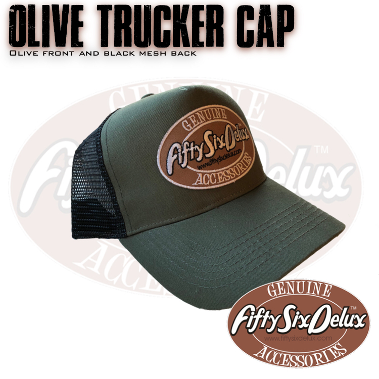 Olive Trucker Cap – FiftySixDelux 1b95ced1fea