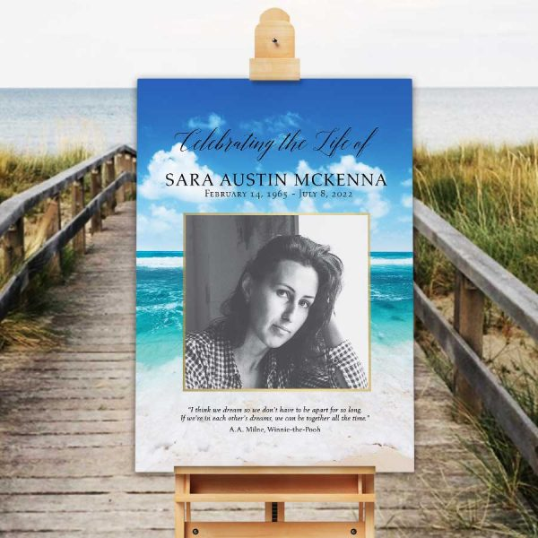 life poster welcome sign beach theme