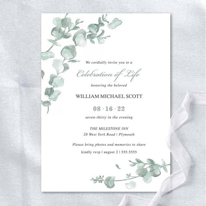 Memorial Service Invitation Templates