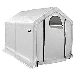 a photo of a shelterlogic greenhouse