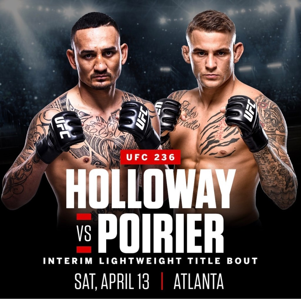 Resultado de imagen para UFC 236 Holloway vs. Poirier