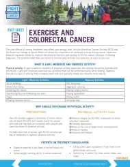 Exercise And Colorectal Cancer Fight Colorectal Cancer