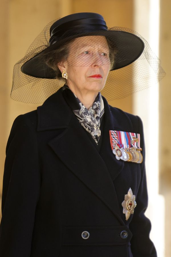 Princess Anne, pictured during the Ceremonial Procession.