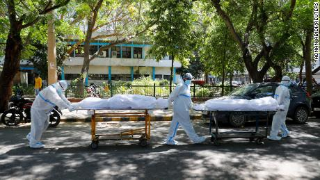 India sets Covid-19 infection record for fourth straight day with hospitals desperate for oxygen