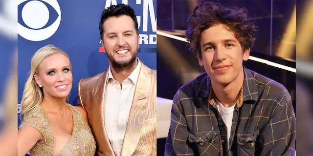 Luke Bryan's wife Caroline denied rumors that 'American Idol' contestant Wyatt Pike left after a physical dust-up with the country star.