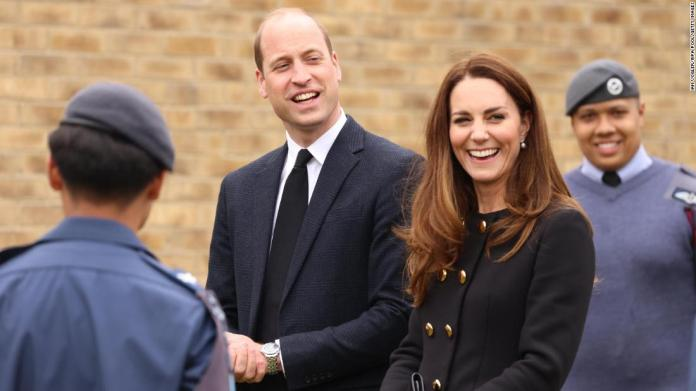 Prince William joined the Queen during a tour at Porton Down science park near Salisbury, England last October.