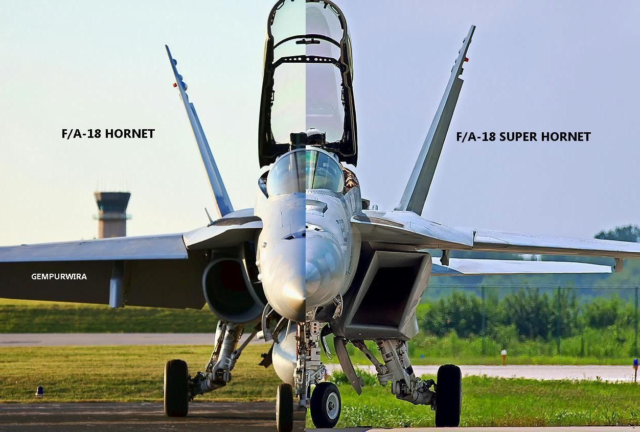 hight resolution of the difference between fa 18 hornet and fa 18 super hornet