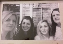 My sisters, Vicki, Me, Sophie and Hannah