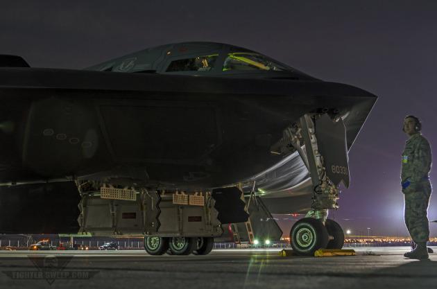 A Northrop-Grumman B-2A Spirit prepares to launch for an Offensive Counter Air (OCA) mission during U.S. Air Force Weapons School class 13-A.