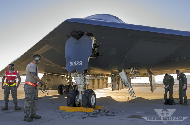 A B-2A Spirit bomber in U.S. Air Force Weapons School