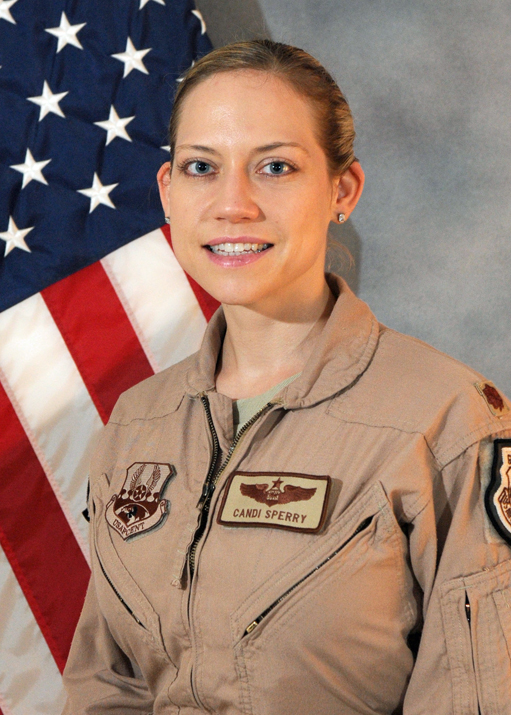"""Major Candice """"STICKI"""" Sperry, top Weapons Officer in the USAF"""