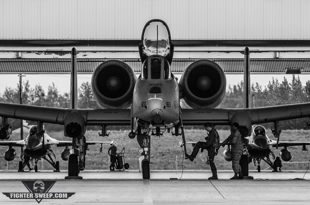 A 25th Fighter Squadron A-10 pilot prepares to climb in for a sortie at Red Flag-Alaska. (Photo by Jonathan Derden)