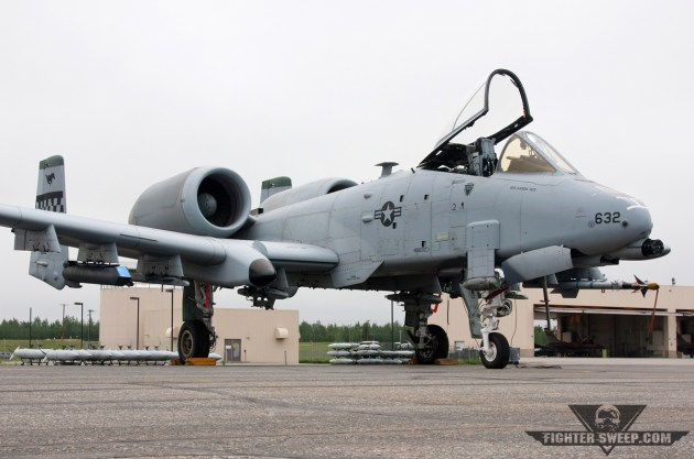A Fairchild Republic A-10C Thunderbolt II sits on the ramp at Eielson Air Force Base, Alaska. (Photo by Jonathan Derden)