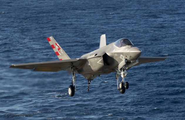 F-35C from VX-23, piloted by LCDR Ted Dyckman, just before trapping aboard the USS Nimitz (CVN-68). (Photo © Lockheed Martin)