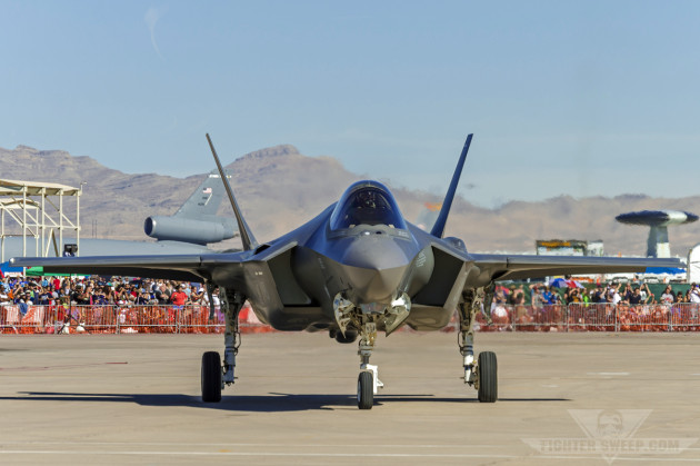 "Major Brad ""Dirt"" Matherne taxis to park at Nellis AFB, Nevada."