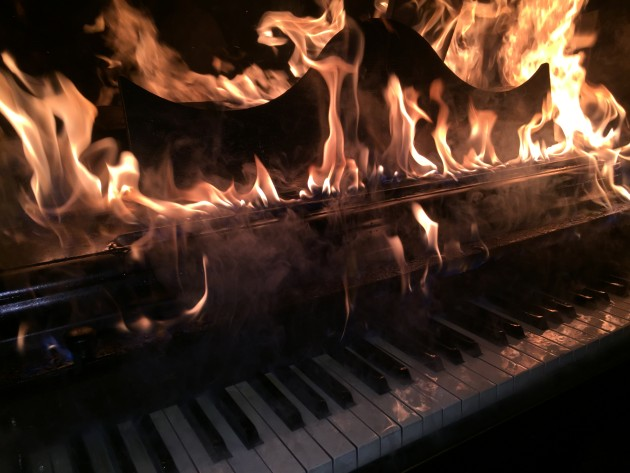 Moose's piano at The Final Roll Call