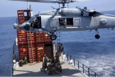 HSC-85 conducts Maritime Interdiction training with MARSOC personnel.