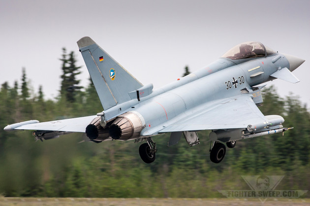 German Eurofighters made their Red Flag debut in Alaska in June 2012