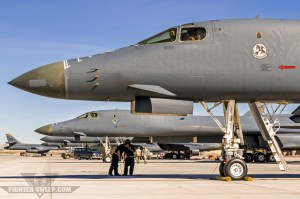 B-1Bs from the 28th Bomb Wing at Ellsworth AFB, South Dakota, prior to launch for a Green Flag-West mission.