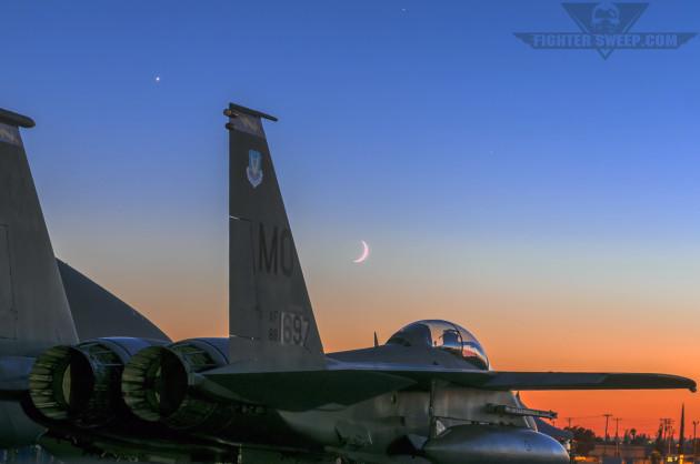 389FS Strike Eagle Moonrise