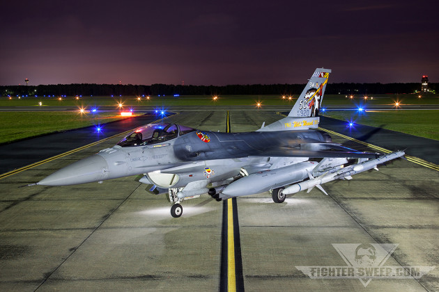 """""""Slapshot"""" the Wild Weasel 50th anniversary tail flash was revealed at Shaw AFB"""
