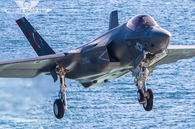 Feet Wet: F-35C DT-II aboard the Mighty Ike!